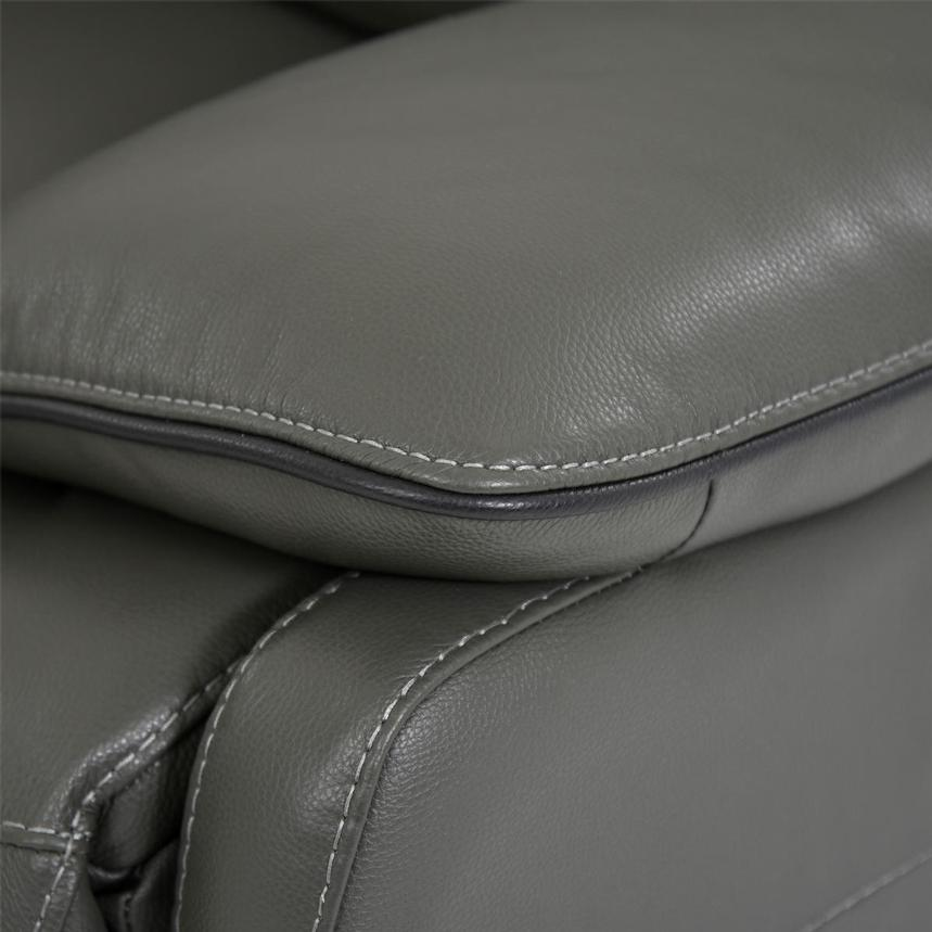 Austin Dark Gray Power Motion Leather Sofa w/Right & Left Recliners  alternate image, 7 of 10 images.