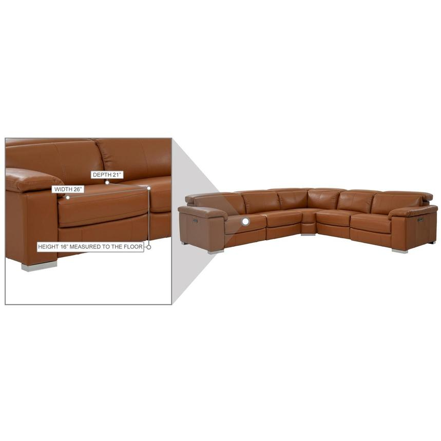 Charlie Tan Leather Power Reclining Sectional  alternate image, 10 of 10 images.