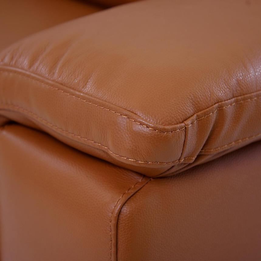 Charlie Tan Power Motion Leather Sofa w/Right & Left Recliners  alternate image, 7 of 10 images.
