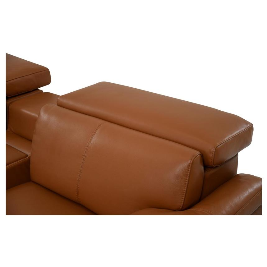 Charlie Tan Power Motion Leather Sofa w/Right & Left Recliners  alternate image, 6 of 9 images.