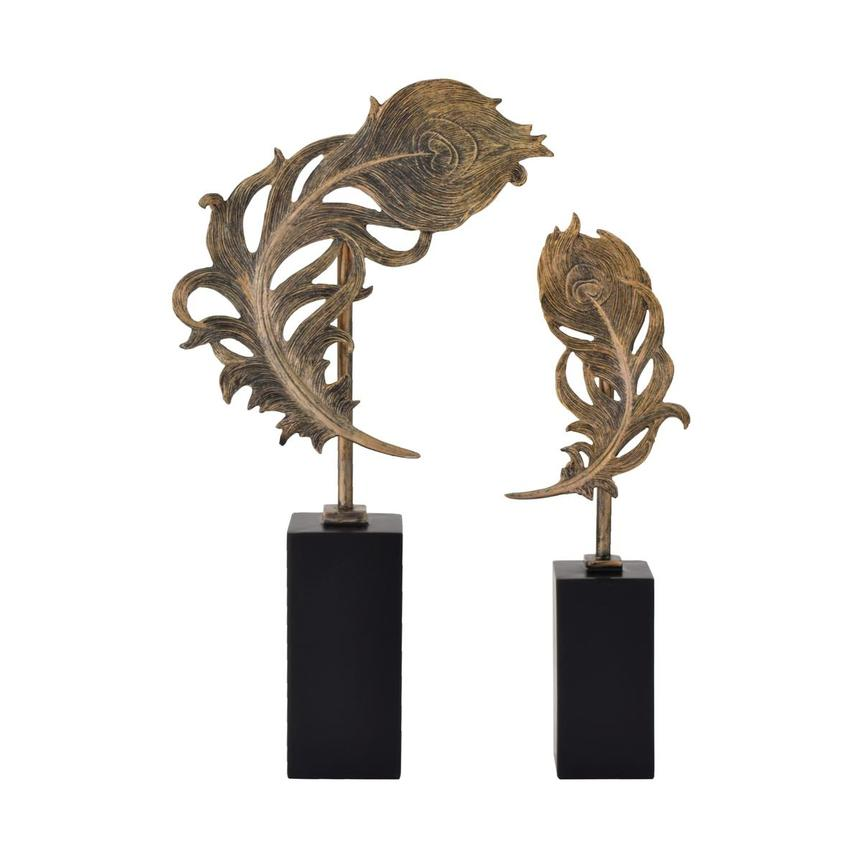 Quill Feathers Set of 2 Sculptures  main image, 1 of 4 images.