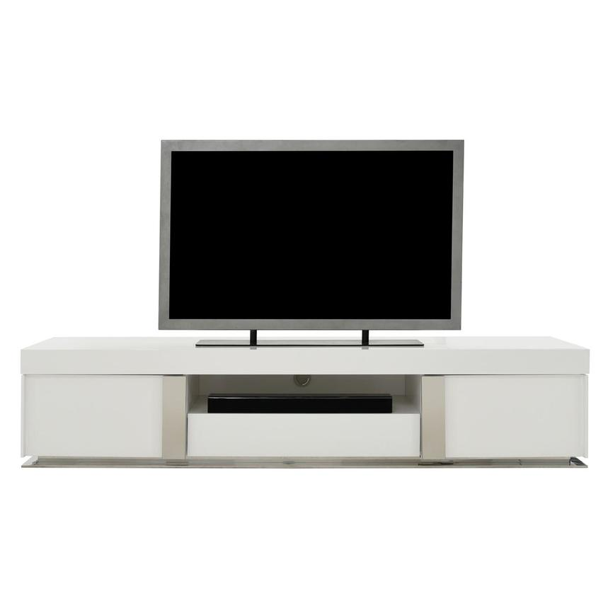 Grand Night White Gloss TV Stand w/Speakers  main image, 1 of 9 images.