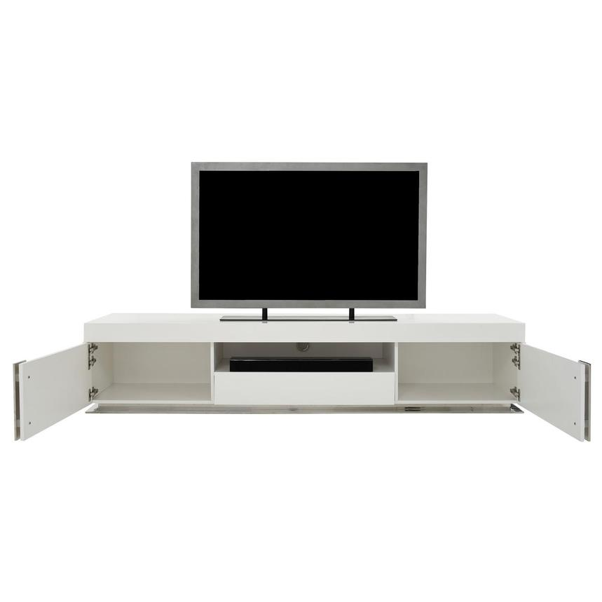 Grand Night White Gloss TV Stand w/Speakers  alternate image, 2 of 9 images.