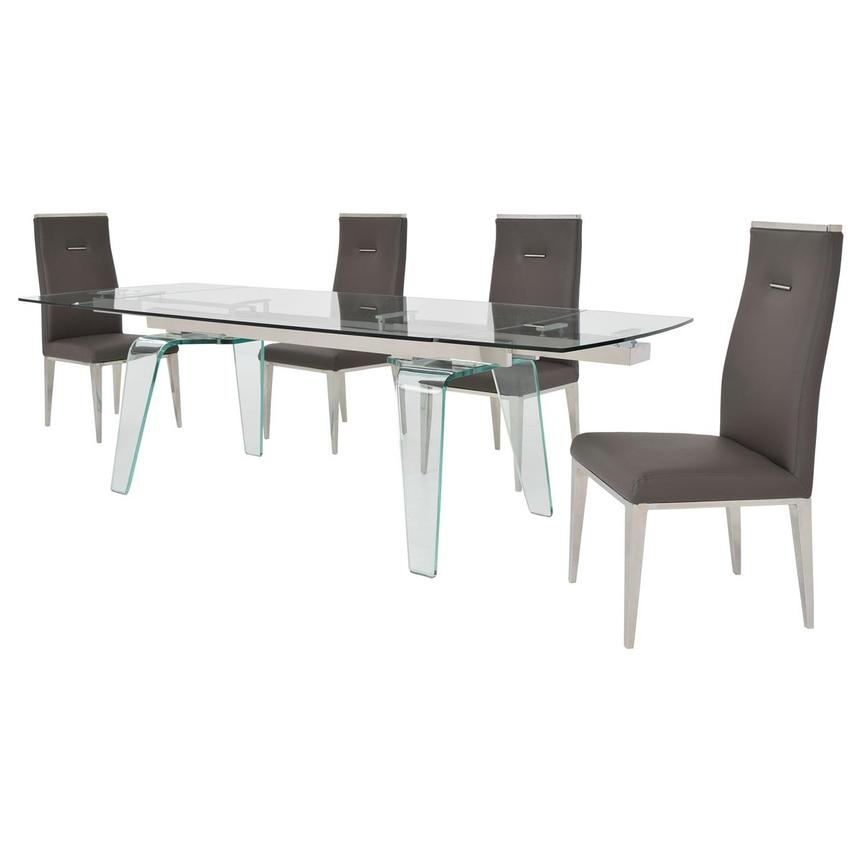 Boston/Hyde Gray 5-Piece Formal Dining Set  alternate image, 2 of 15 images.