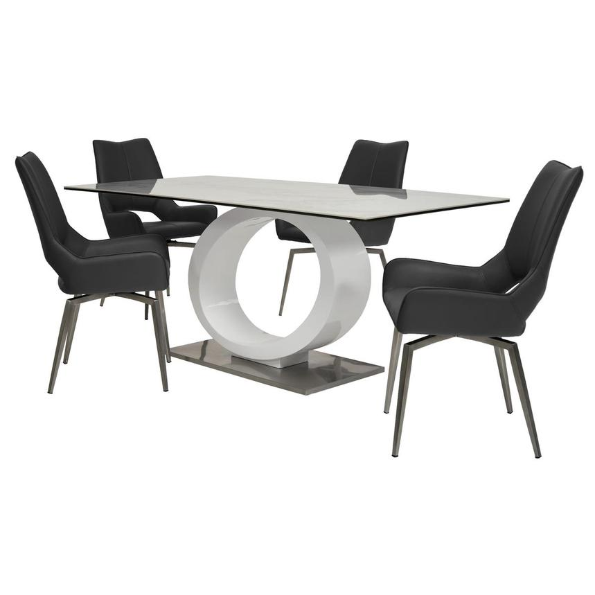 Fenti/Kalia Gray 5-Piece Formal Dining Set  main image, 1 of 14 images.