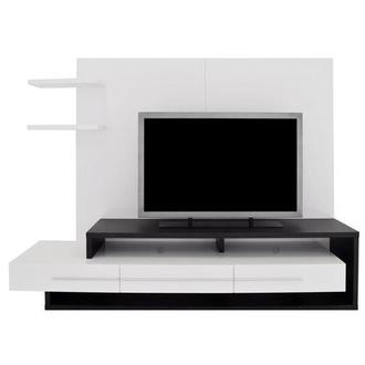 Avanti Dark Oak/White Wall Unit