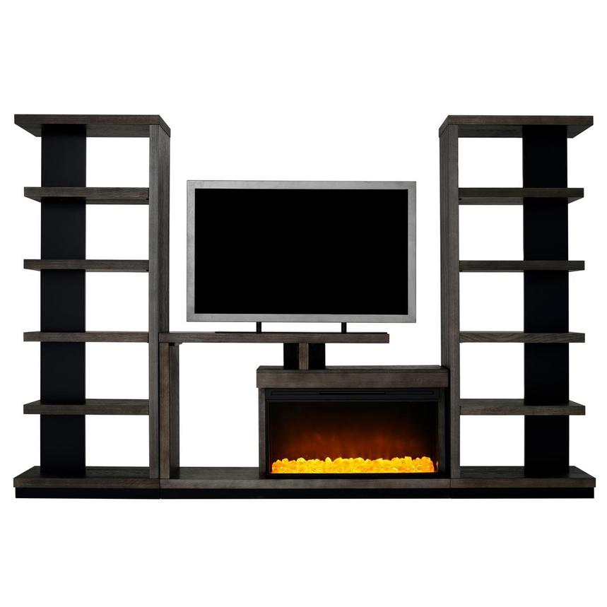 Brielle Wall Unit w/Bookcases  main image, 1 of 9 images.