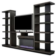 Brielle Wall Unit w/Bookcases  alternate image, 2 of 9 images.