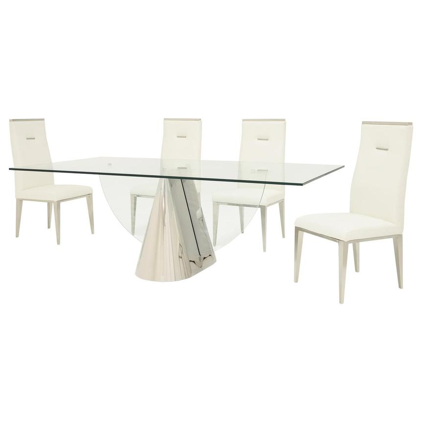 Extreme/Hyde White 5-Piece Formal Dining Set  alternate image, 2 of 15 images.