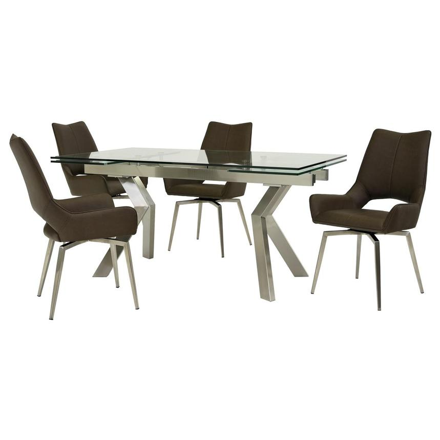 Lynne Clear/Kalia Brown 5-Piece Formal Dining Set  main image, 1 of 15 images.