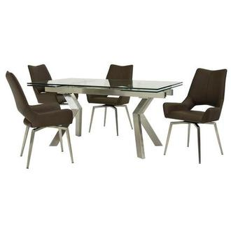 Lynne Clear/Kalia Brown 5-Piece Formal Dining Set