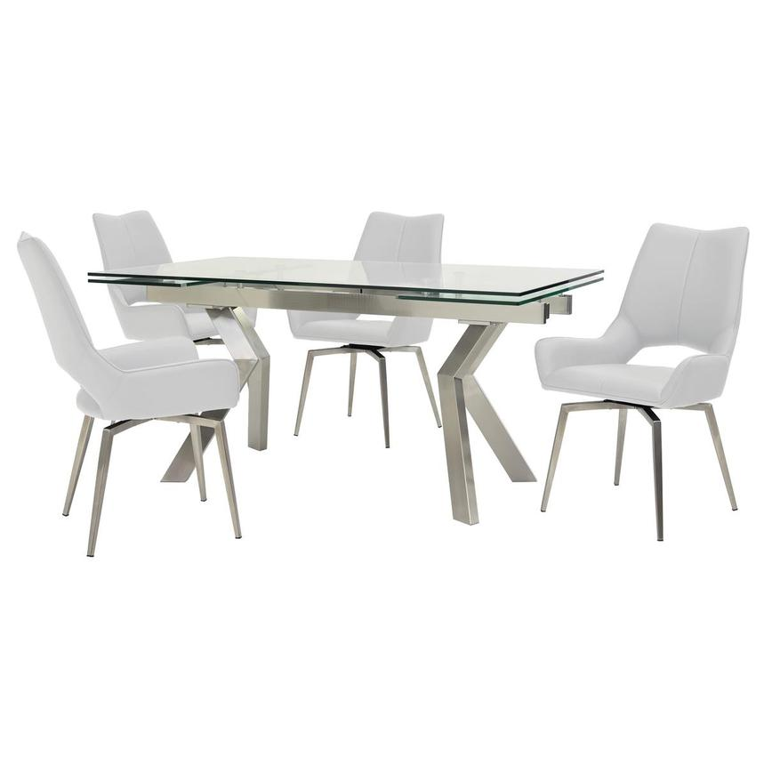 Lynne Clear/Kalia White 5-Piece Dining Set  main image, 1 of 16 images.