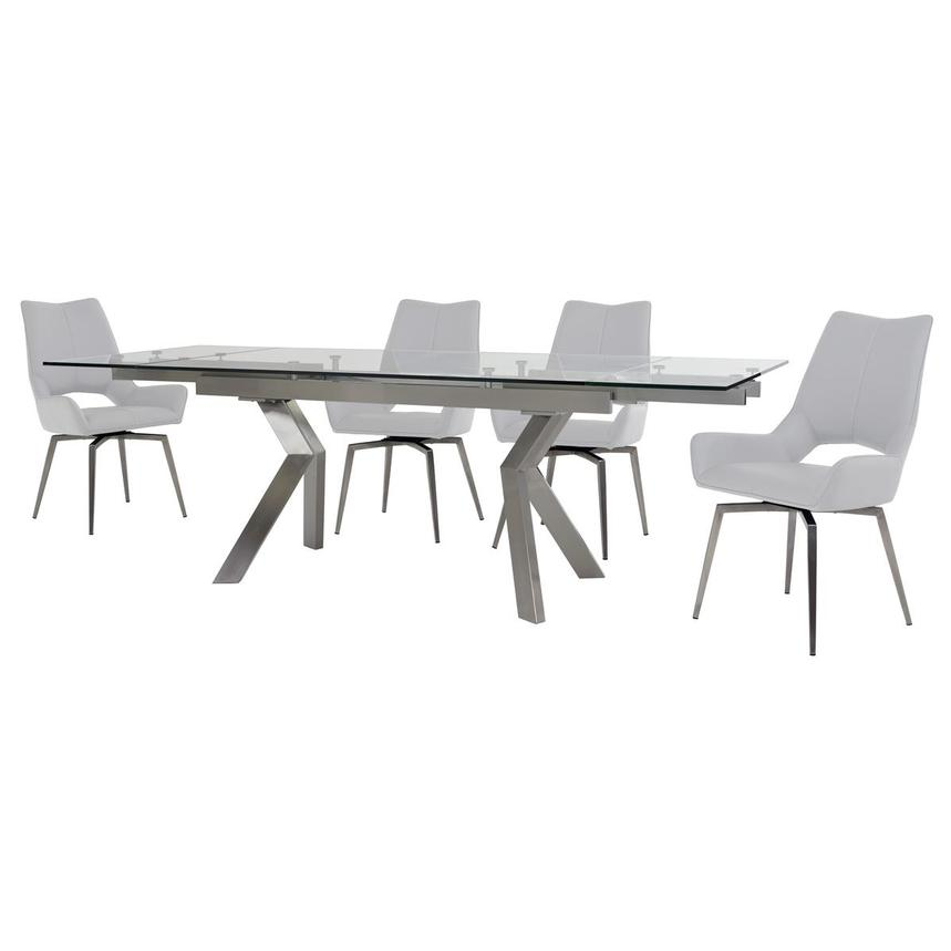 Lynne Clear/Kalia White 5-Piece Dining Set  alternate image, 2 of 14 images.