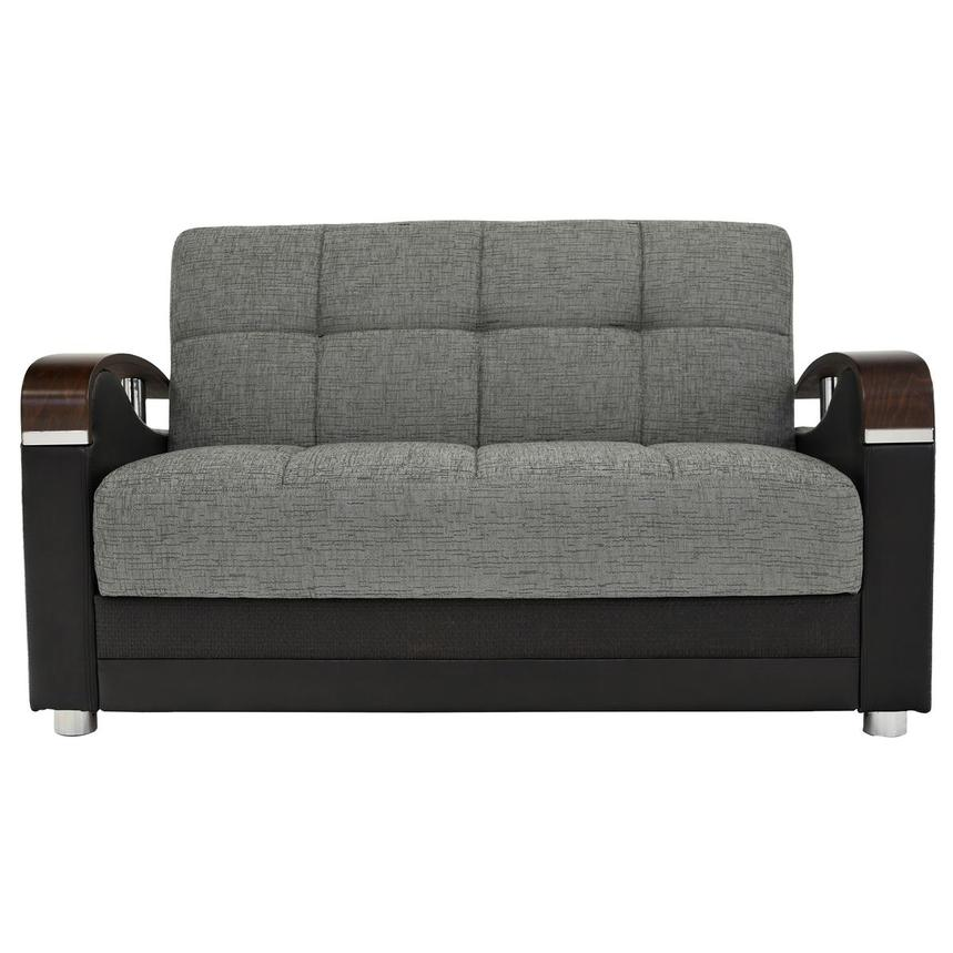 Peron Gray Futon Loveseat  alternate image, 2 of 8 images.