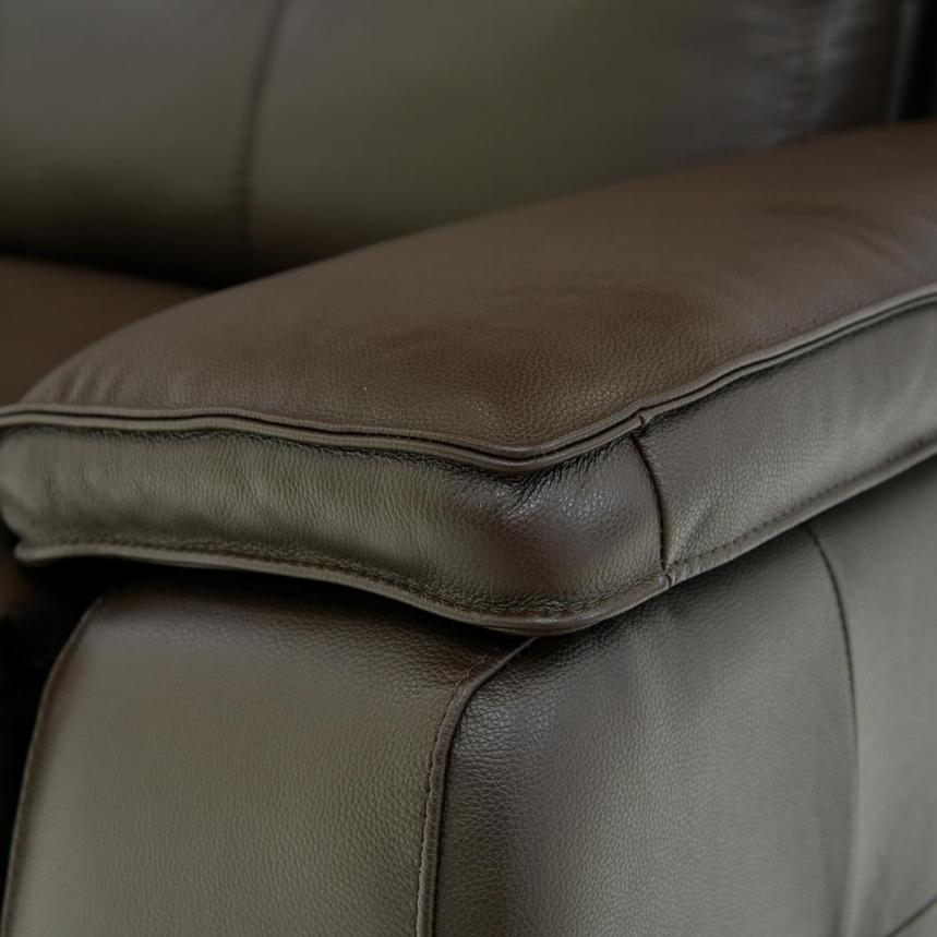 Gian Marco Brown Home Theater Leather Seating  alternate image, 6 of 8 images.