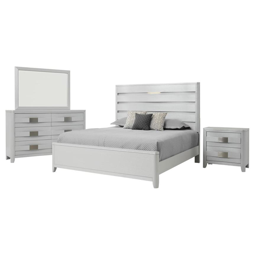 Contour White 4-Piece King Bedroom Set  main image, 1 of 5 images.