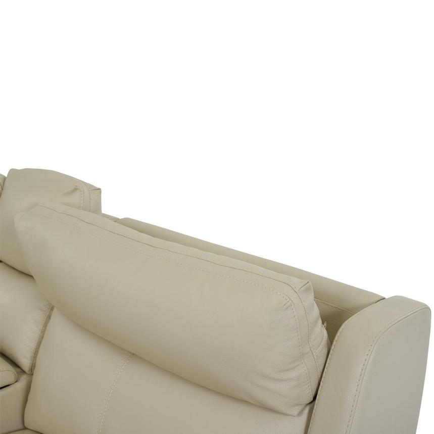 Amanda Cream Power Motion Leather Sofa w/Right & Left Recliners  alternate image, 7 of 11 images.