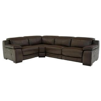 Gian Marco Brown Leather Power Reclining Sectional