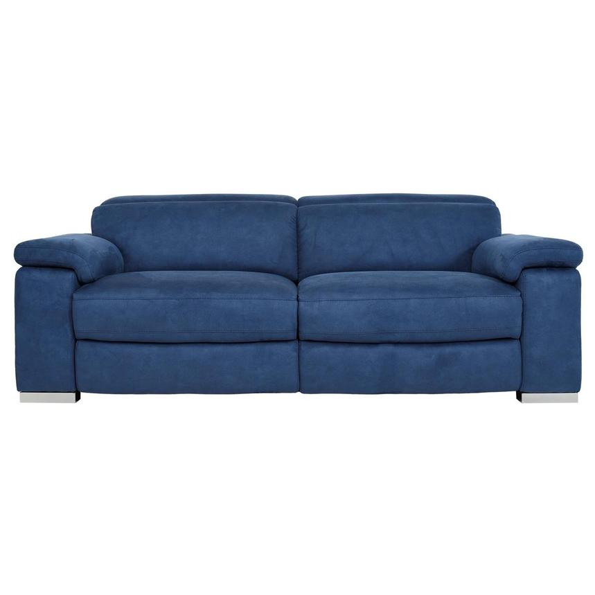 Karly Blue Power Reclining Sofa  main image, 1 of 11 images.