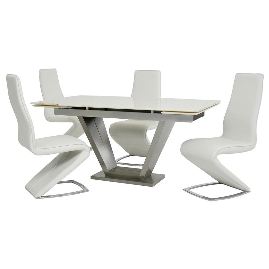Jessy II White 5-Piece Formal Dining Set  main image, 1 of 13 images.