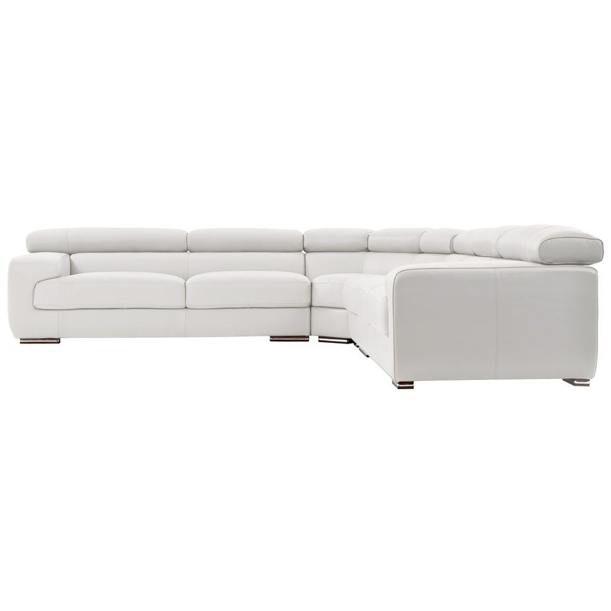 Grace White Leather Sectional Sofa  alternate image, 3 of 8 images.