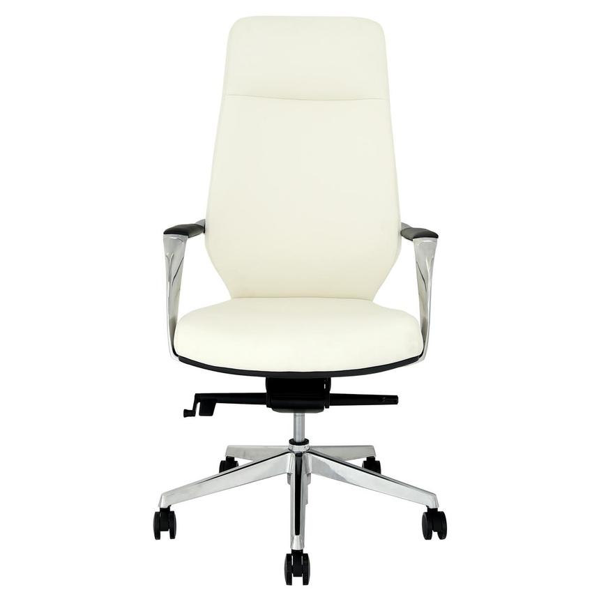 Yoshi White High Back Desk Chair  main image, 1 of 8 images.