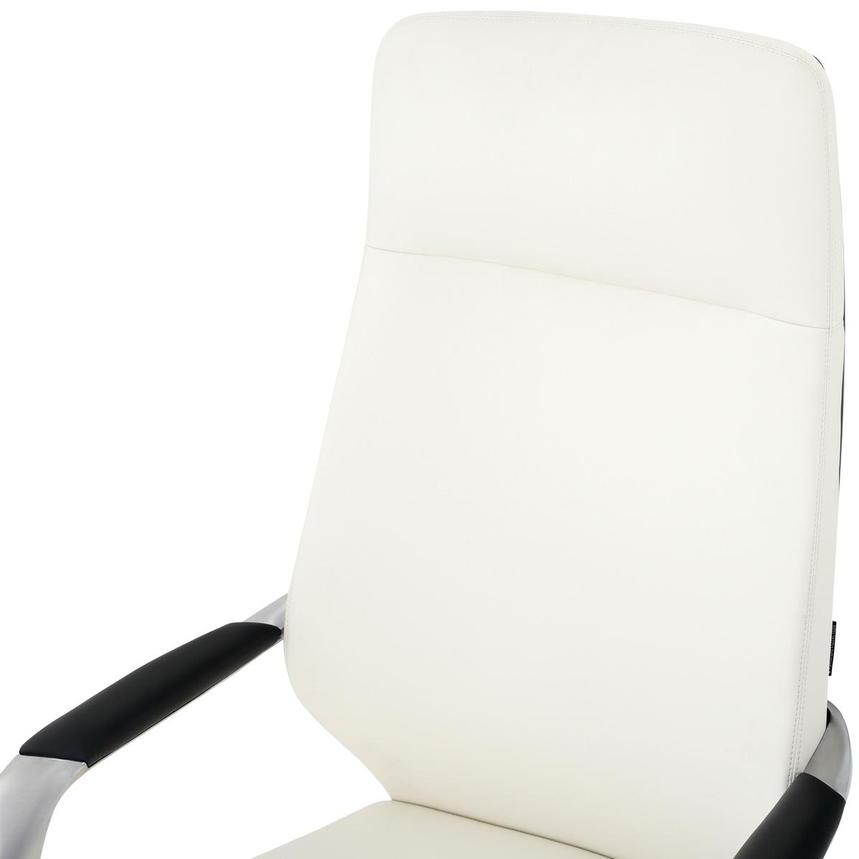 Yoshi White High Back Desk Chair  alternate image, 6 of 8 images.