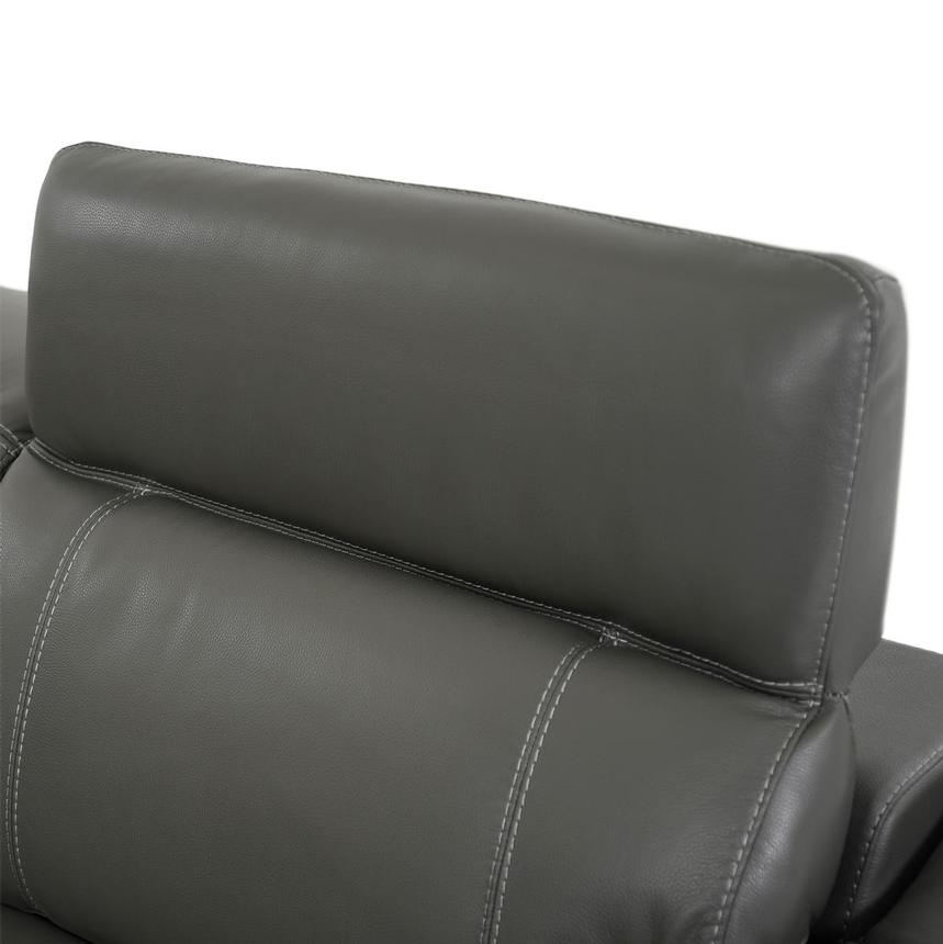 Austin Dark Gray Home Theater Leather Seating  alternate image, 6 of 11 images.