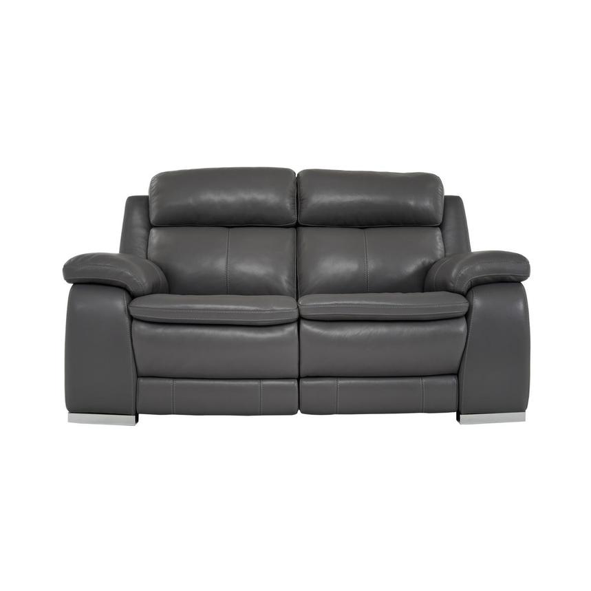 Surprising Matteo Gray Leather Power Reclining Loveseat Unemploymentrelief Wooden Chair Designs For Living Room Unemploymentrelieforg