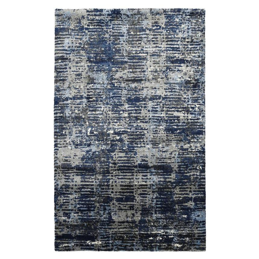 Viera Dark Blue 5' x 8' Area Rug  main image, 1 of 3 images.