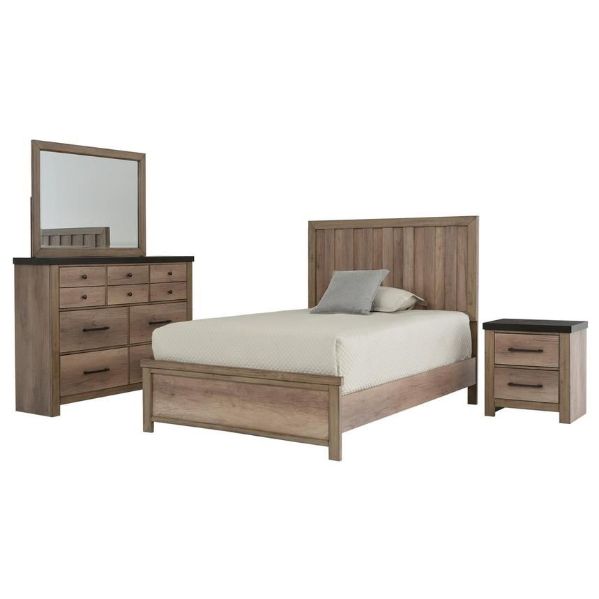 Barn Wood 4-Piece Full Bedroom Set  main image, 1 of 6 images.
