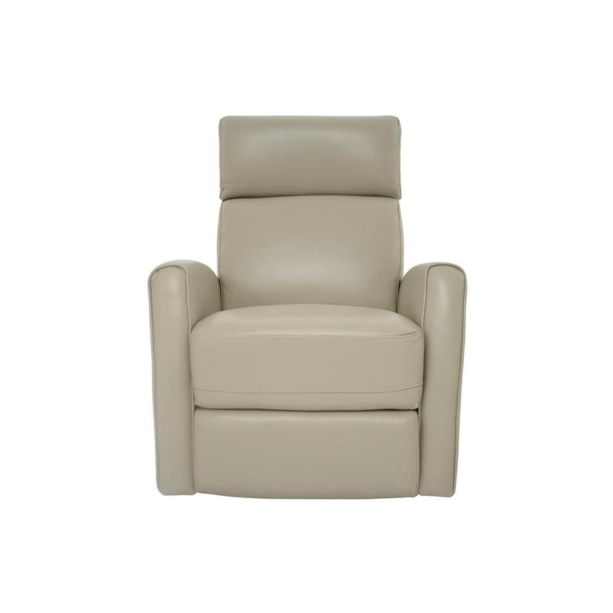 Lucca Cream Power Motion Leather Recliner  main image, 1 of 7 images.