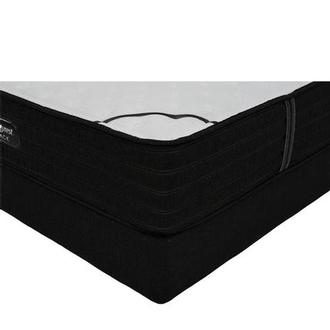 BRB-L-Class Firm Queen Mattress w/Low Foundation by Simmons Beautyrest Black