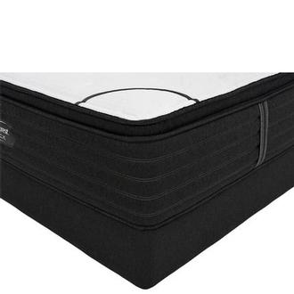 BRB-L-Class PTMS Queen Mattress w/Low Foundation by Simmons Beautyrest Black
