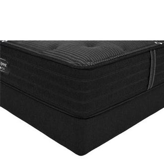 BRB-C-Class MS Queen Mattress w/Low Foundation by Simmons Beautyrest Black