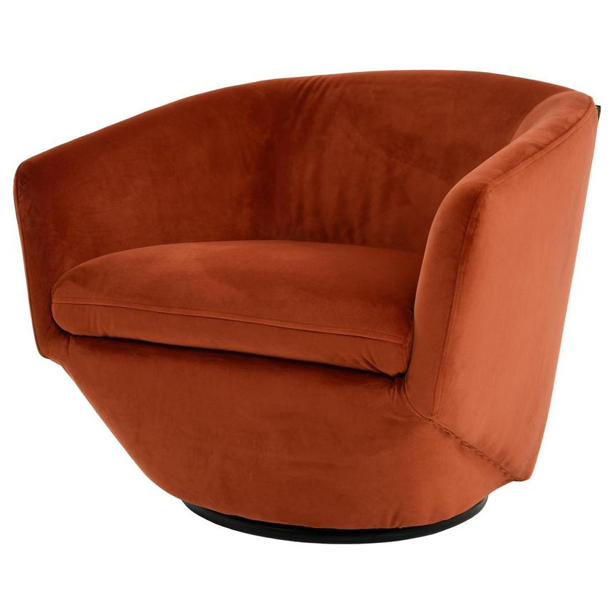 Andy Orange Swivel Accent Chair  alternate image, 2 of 5 images.