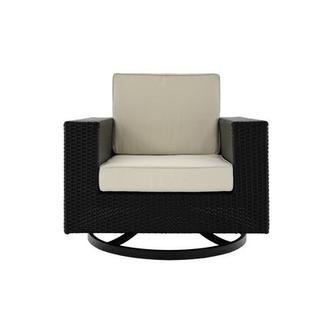 Neilina Black Swivel Rocker Chair