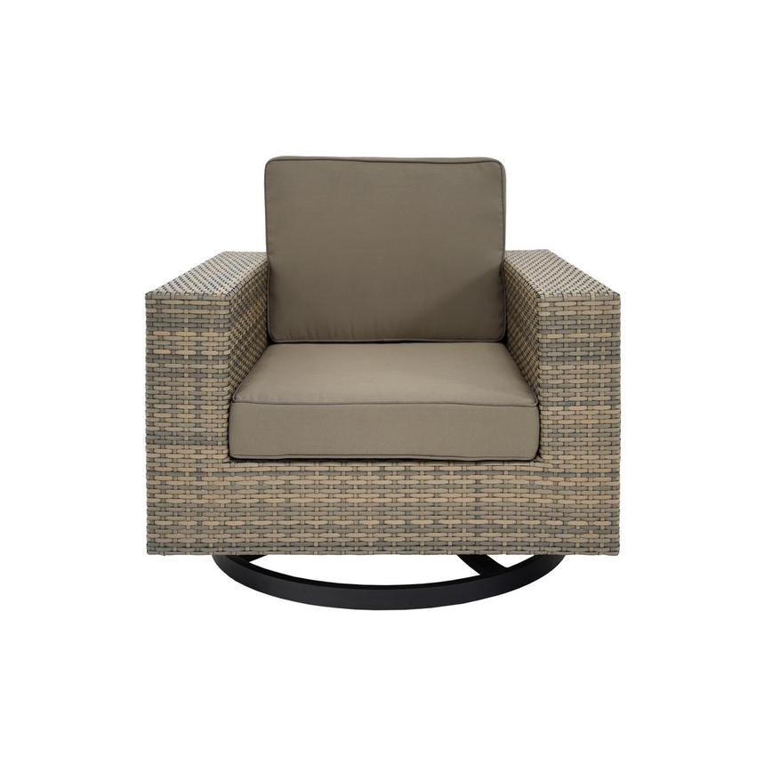 Neilina Brown Swivel Rocker Chair  main image, 1 of 5 images.