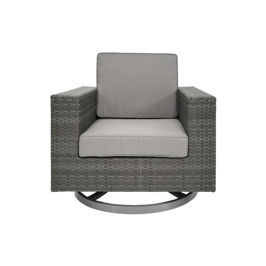 Neilina Gray Swivel Rocker Chair  main image, 1 of 5 images.