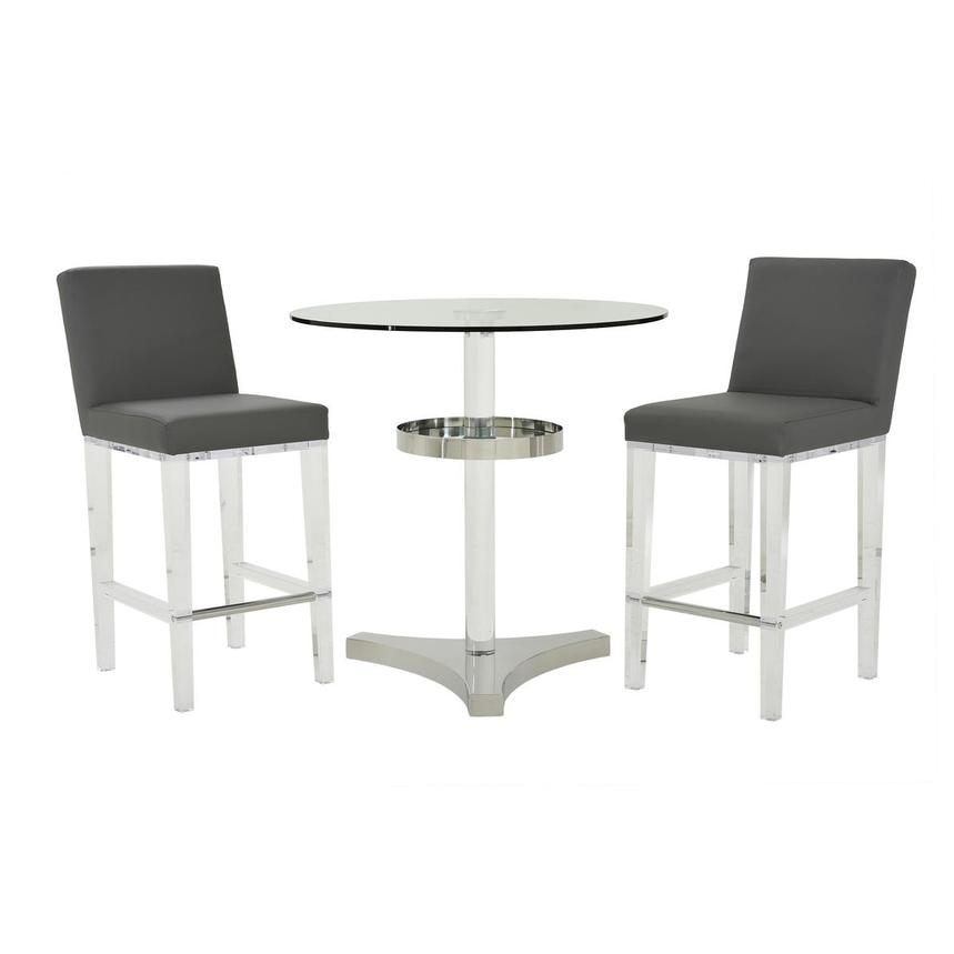 Mina Gray 3-Piece Counter Dining Set  main image, 1 of 13 images.