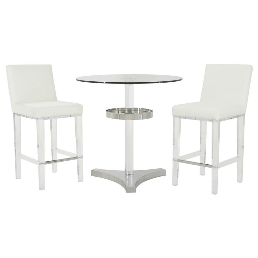 Mina White 3-Piece Counter Dining Set  main image, 1 of 13 images.