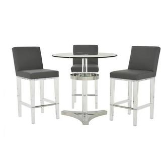 Mina Gray 4-Piece High Dining Set
