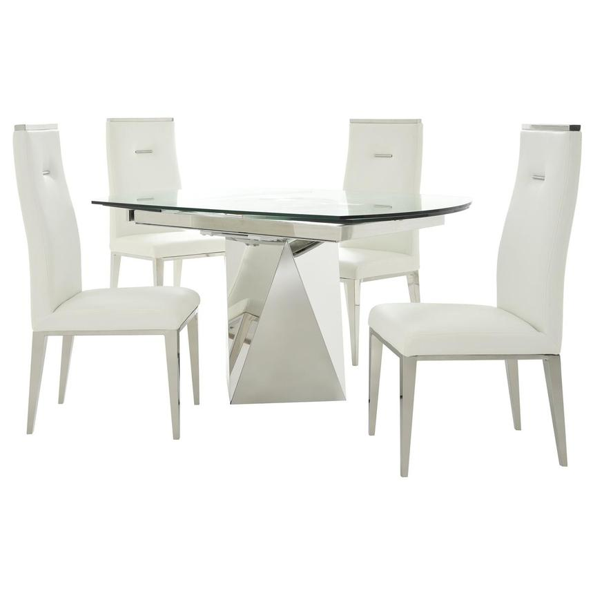 Ulona/Hyde I White 5-Piece Formal Dining Set  main image, 1 of 15 images.