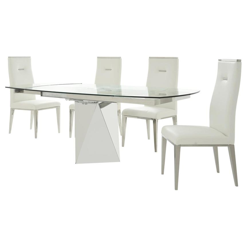 Ulona/Hyde White 5-Piece Formal Dining Set  alternate image, 2 of 15 images.