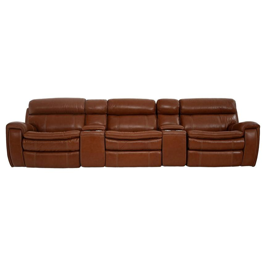 Napa Tan Home Theater Leather Seating  main image, 1 of 10 images.