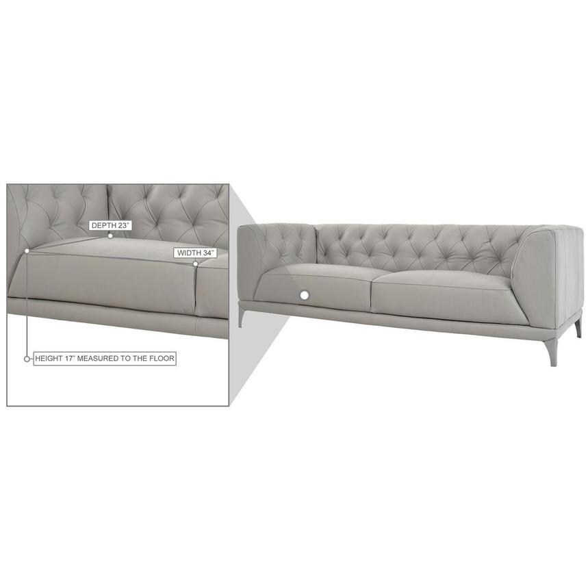 Diana Gray Leather Sofa El Dorado Furniture