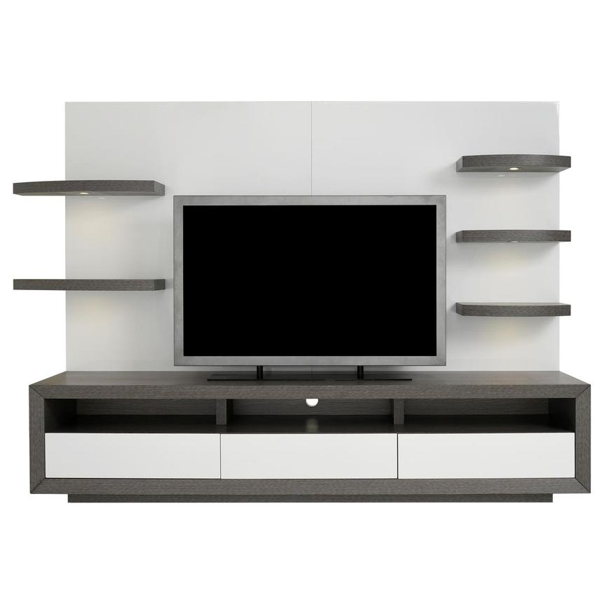 Contour II Gray/White Wall Unit  main image, 1 of 10 images.