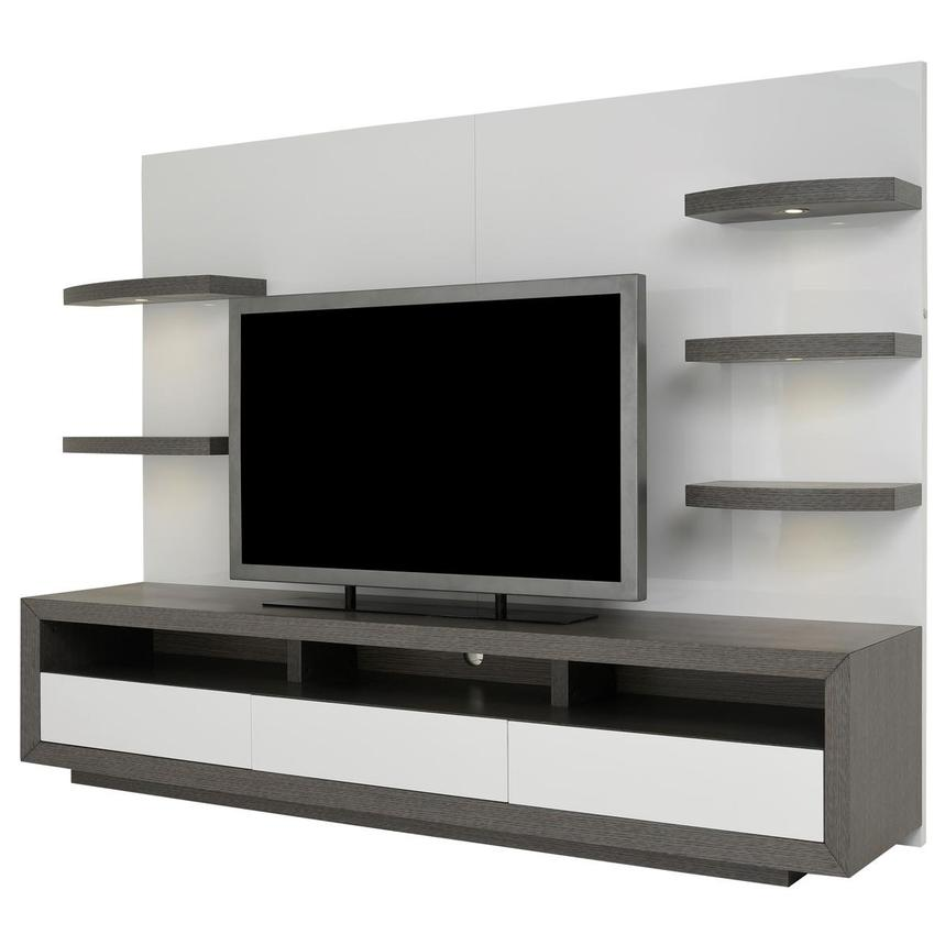 Contour II Gray/White Wall Unit  alternate image, 2 of 9 images.