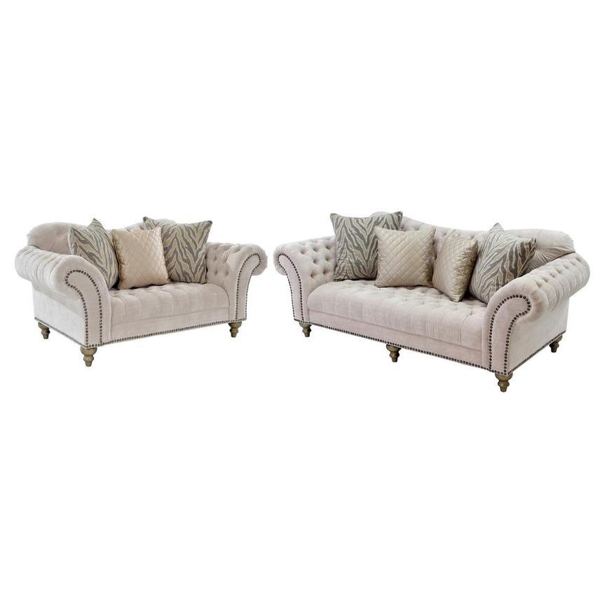 Laura Cream Living Room Set
