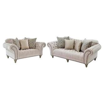 Laura Cream Living Room Set